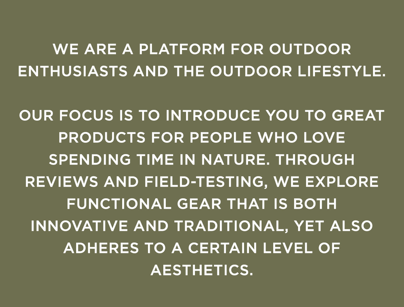 Outdoor Aesthetics - About