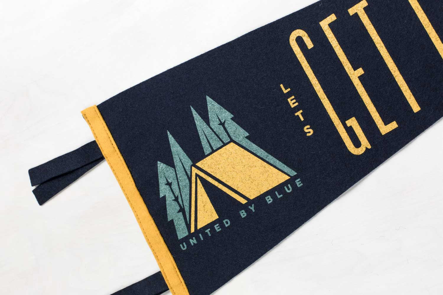 Let's Get Lost Pennant United By Blue