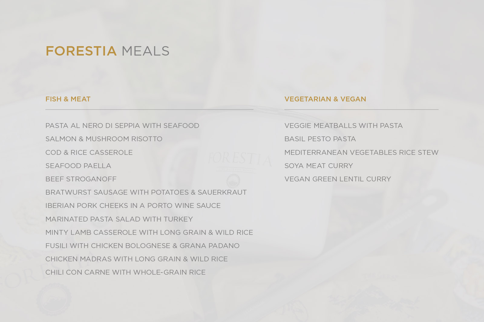 Forestia outdoor meals